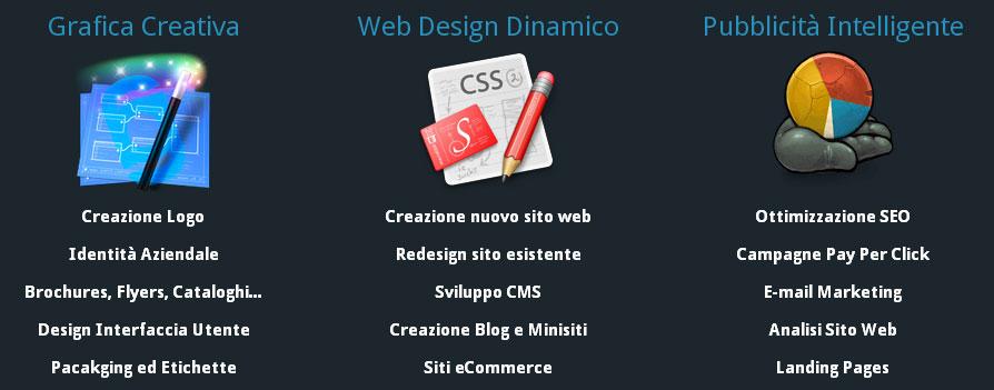 web design logo design ottimizzazione